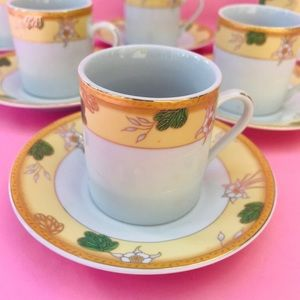 Vintage Casati fine porcelain mini coffee cups